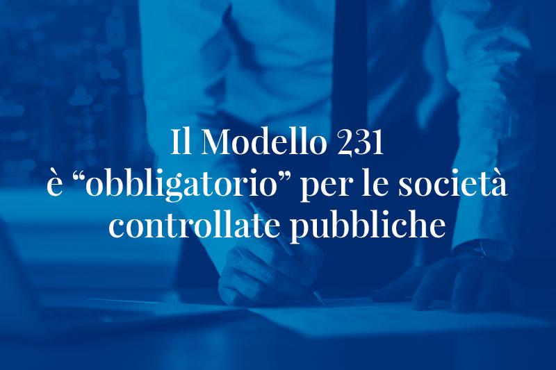 Il modello 231 obbligatorio per le societ controllate for D alessandro termomeccanica modello clp